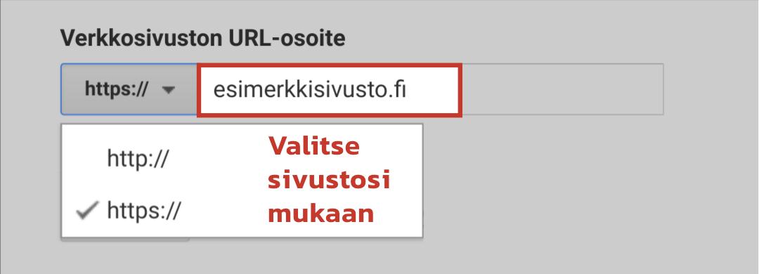Verkkosivuston URL-osoite