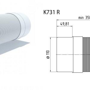 Ани (К731R) Муфта (улучшенная манжета длин. 100мм) (20)