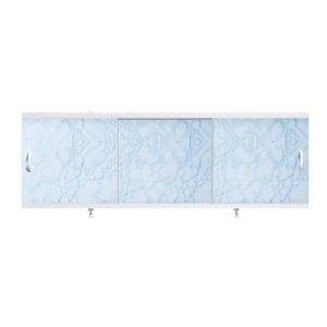 "Экран д/ванны ""Оптима"" 1.5м пластик Голубой/мрам"