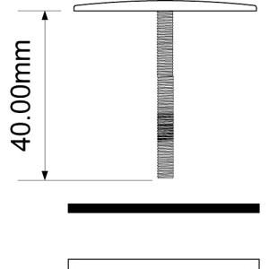 Заглушка мет.TAPSTOP-SS40 43мм под отв 40mm винт 40 D-М4 хром