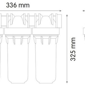 ATLAS Комплект фильтров под раковину FA+LA+CA+SE (3 колбы)