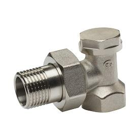 Клапан запорный 3/4″ д/радиатора угловой (Aqualink) 10