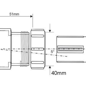 Адаптор переходной Bossconn 110-40-GR для врез.больш/диам