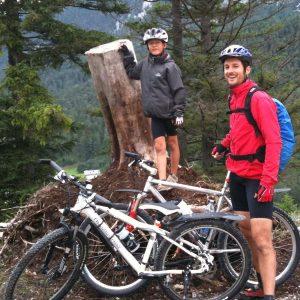 Julian und Thomas vom Mittenwald zur Oberbrunn Alm