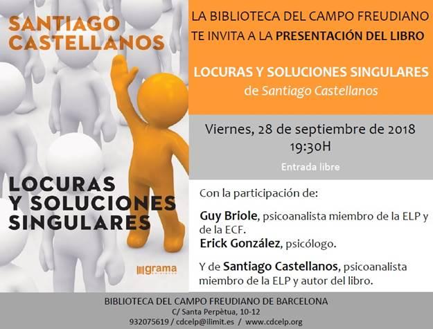 """Presentación del libro: """"Locuras y soluciones singulares"""", Barcelona 28.09.2018."""