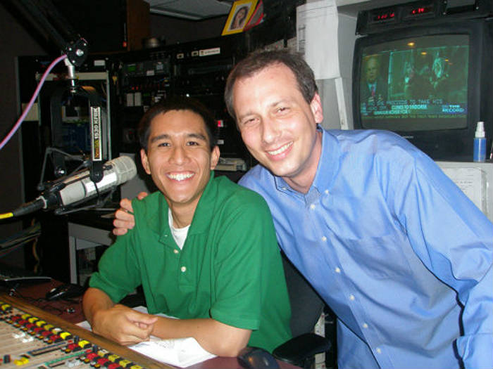 Mentee, Jonathan Santiago (left), Mentor, Chris Burrous (right)