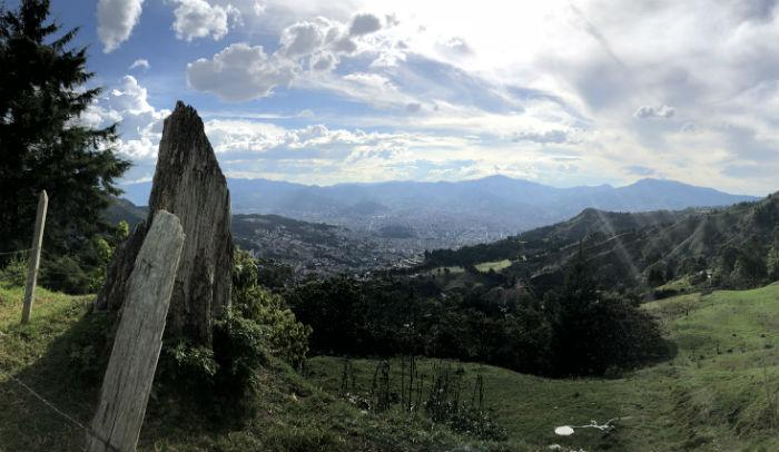 View of Medellin from Santa Elena.