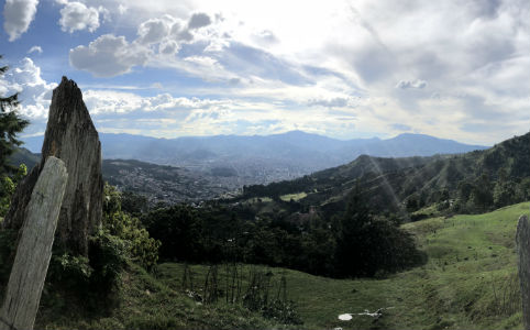 View of Medellin from Santa Elena.