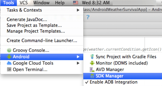 Android Studio SDK Manager Glass GDK Sneak Peek by Marcio Valenzuela Santiapps.com