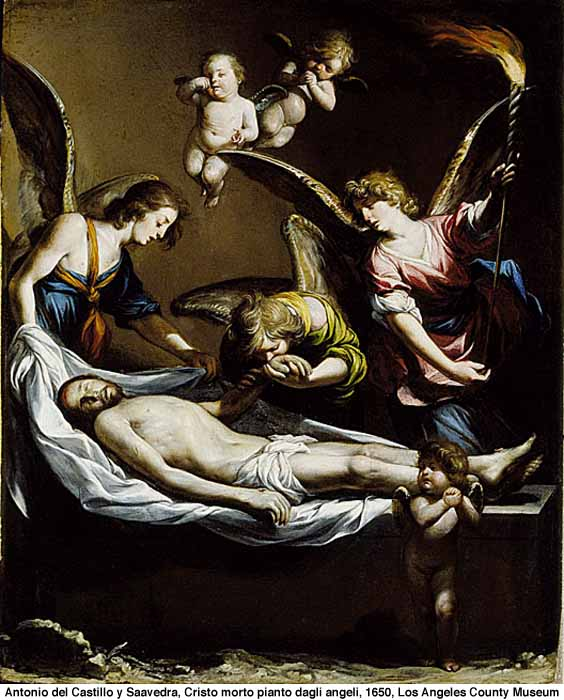 Christ in the Tomb Supported By Angels