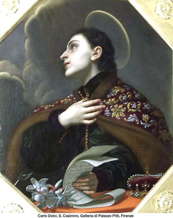Carlo Dolci, San Casimiro, Galleria di Palazzo Pizzi, Firenze