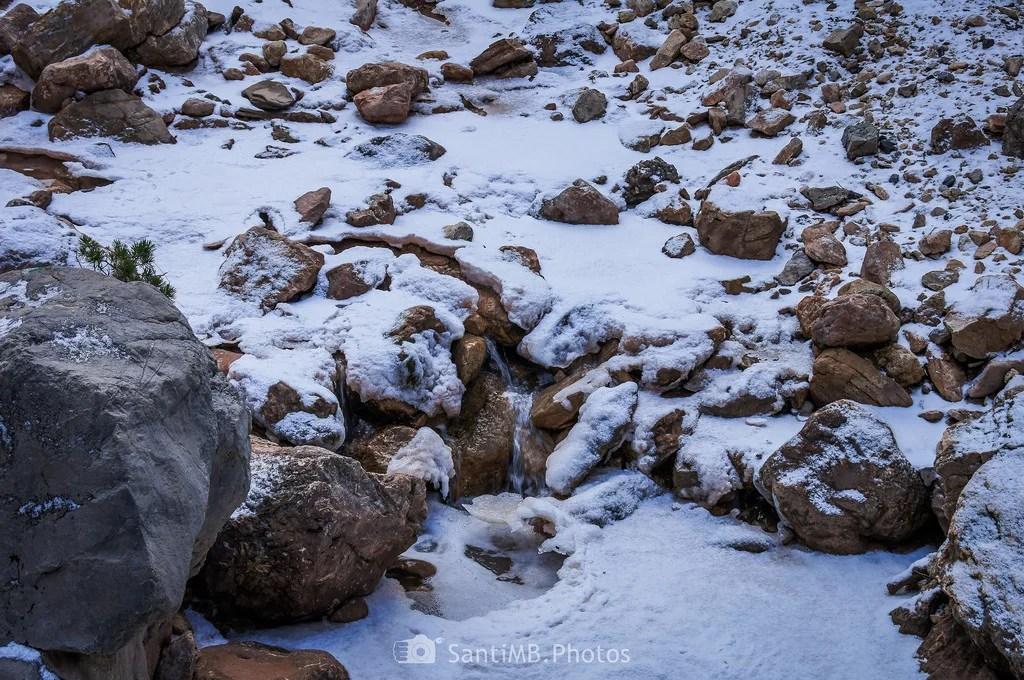 Agua bajo la nieve