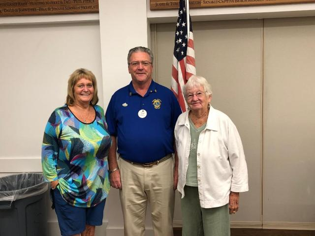 SanCap Lions Club Inducts Two New Members