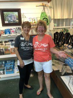 Executive Director Emilie Alfino and Volunteer Kay McDonald