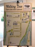 The unveiled Walking Tour brochure