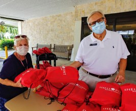 Photo 5 - Shell Point School Supply Distribution - Renee Maxwell and Mike Coler