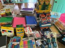 A sample of generous donations for the Back to School project at F.I.S.H.