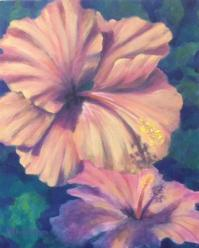 Marcy Calkins_Two Hibiscus_Acrylic