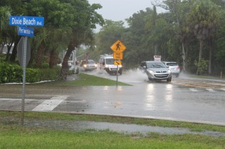 Roads remain passable with isolated locations of standing water.