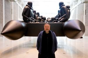 Instalação artística, em Praga, Ai Weiwei