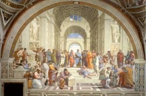 Raffaello Sanzio , A Escola de Atenas, 1511, Museu do Vaticano