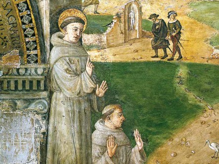 Santo António prega aos peixes (discípulo de G. Tessari - Basílica de Santo António - Pádua)