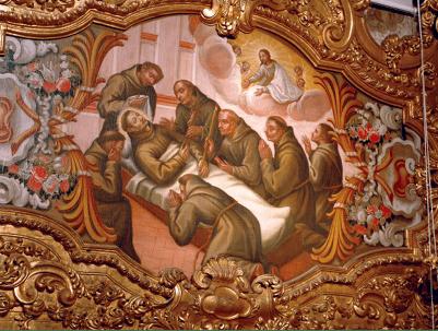 Morte de Santo António – Quadro na sacristia