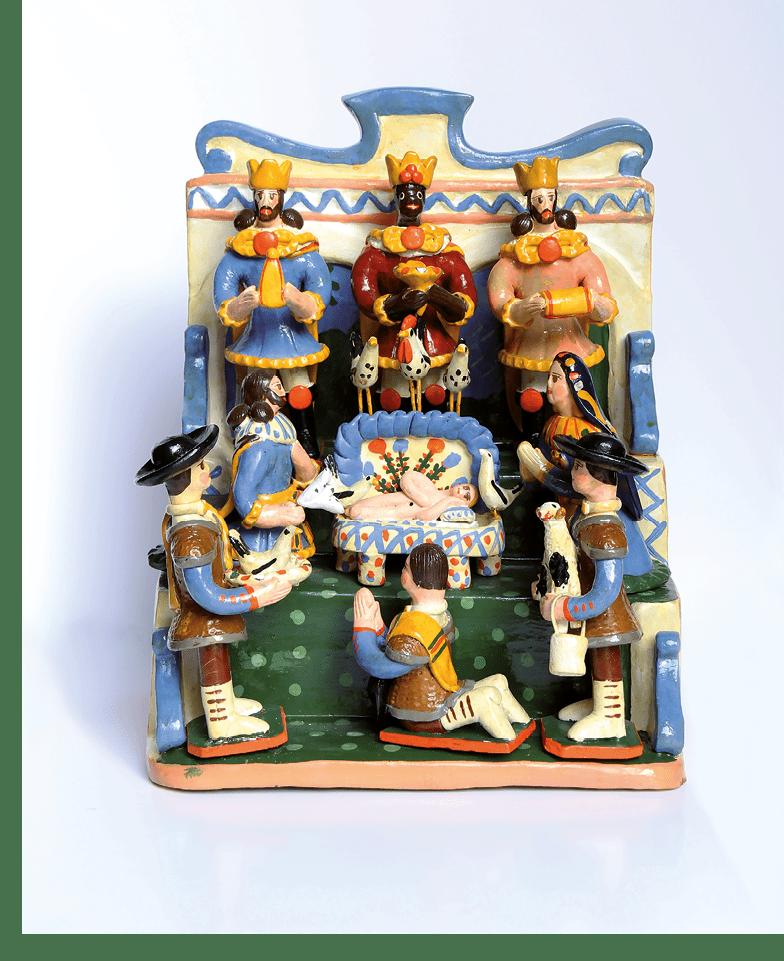 O figurado de barro de Estremoz é candidato a património imaterial da UNESCO. No Museu de Lisboa - Santo António, está patente, durante todo o mês de dezembro, uma exposição com presépios de Estremoz.