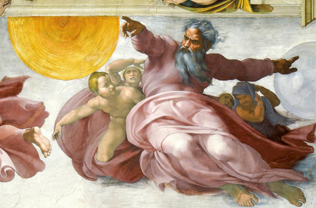 Michelangelo, Criação do Sol, Capela Sistina