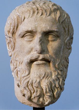 Silanion, Cabeça de Platão, Musei Capitolini. https://commons.wikimedia.org/