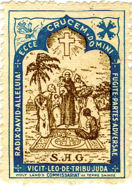 Vinheta, séc. XX, papel, 38 mm x 27 mm, Museu de Lisboa - Santo António