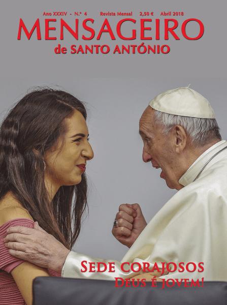 Capa edição abril 2018 do Mensageiro de Santo António