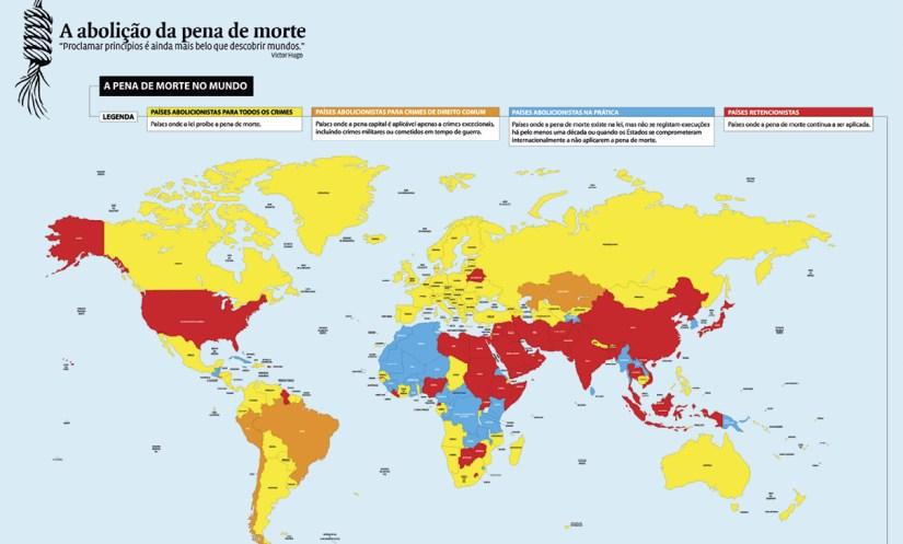 A pena de morte no mundo Fonte: http://150anosdaabolicaodapenademorteemportugal.dglab.gov.pt/