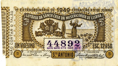 Bilhete da lotaria de Santo António de 1949, MA.ESP.DOC.0108