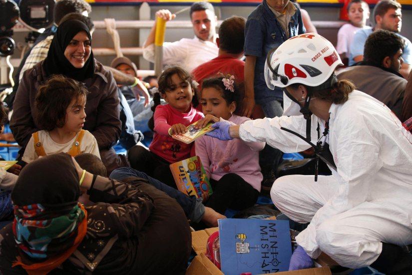 Migrantes resgatados entre Malta e a Líbia
