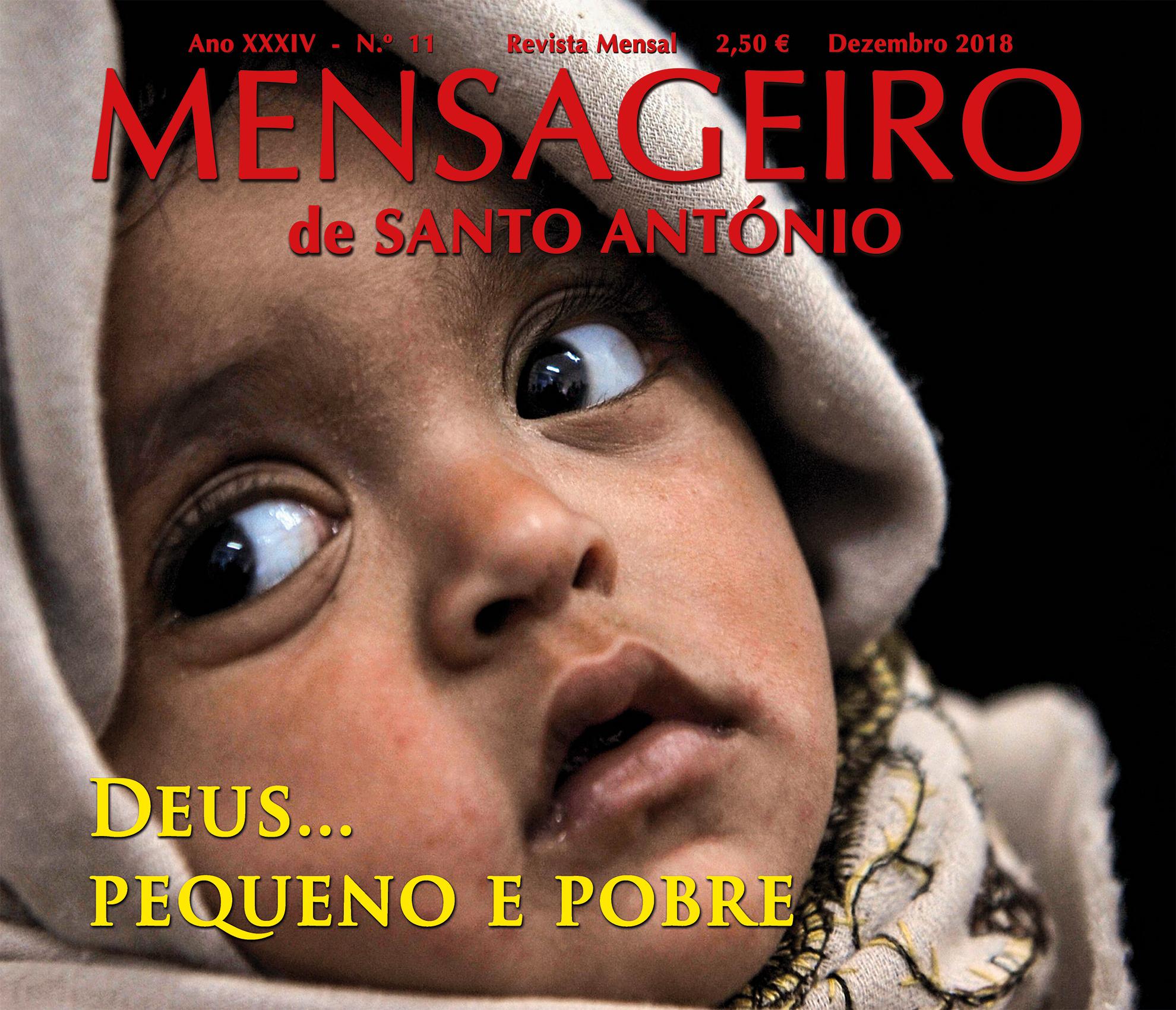 Mensageiro de Santo António dezembro 2018 aperitivo: Deus pequeno e pobre.