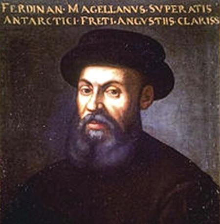 """""""Fernando de Magalhães, que superou os famosos estreitos do Sul"""". Retrato anónimo de Fernão"""