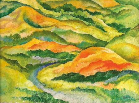 Amadeo de Souza Cardoso, Título desconhecido (Montanhas), cerca de 1912, Gulbenkian