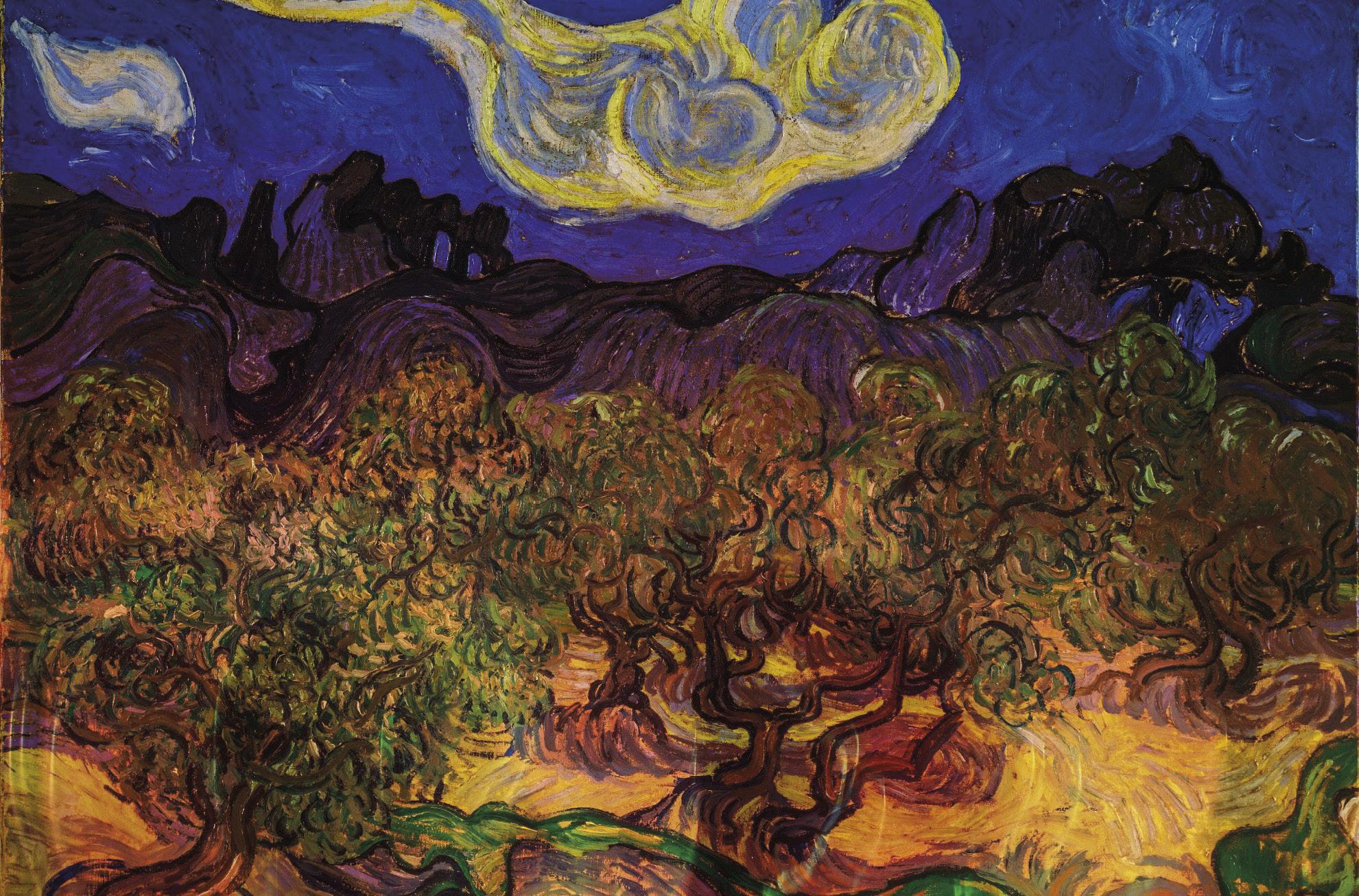 Oliveiras na noite, óleo sobre tela, van Gogh / Wikimedia Commons