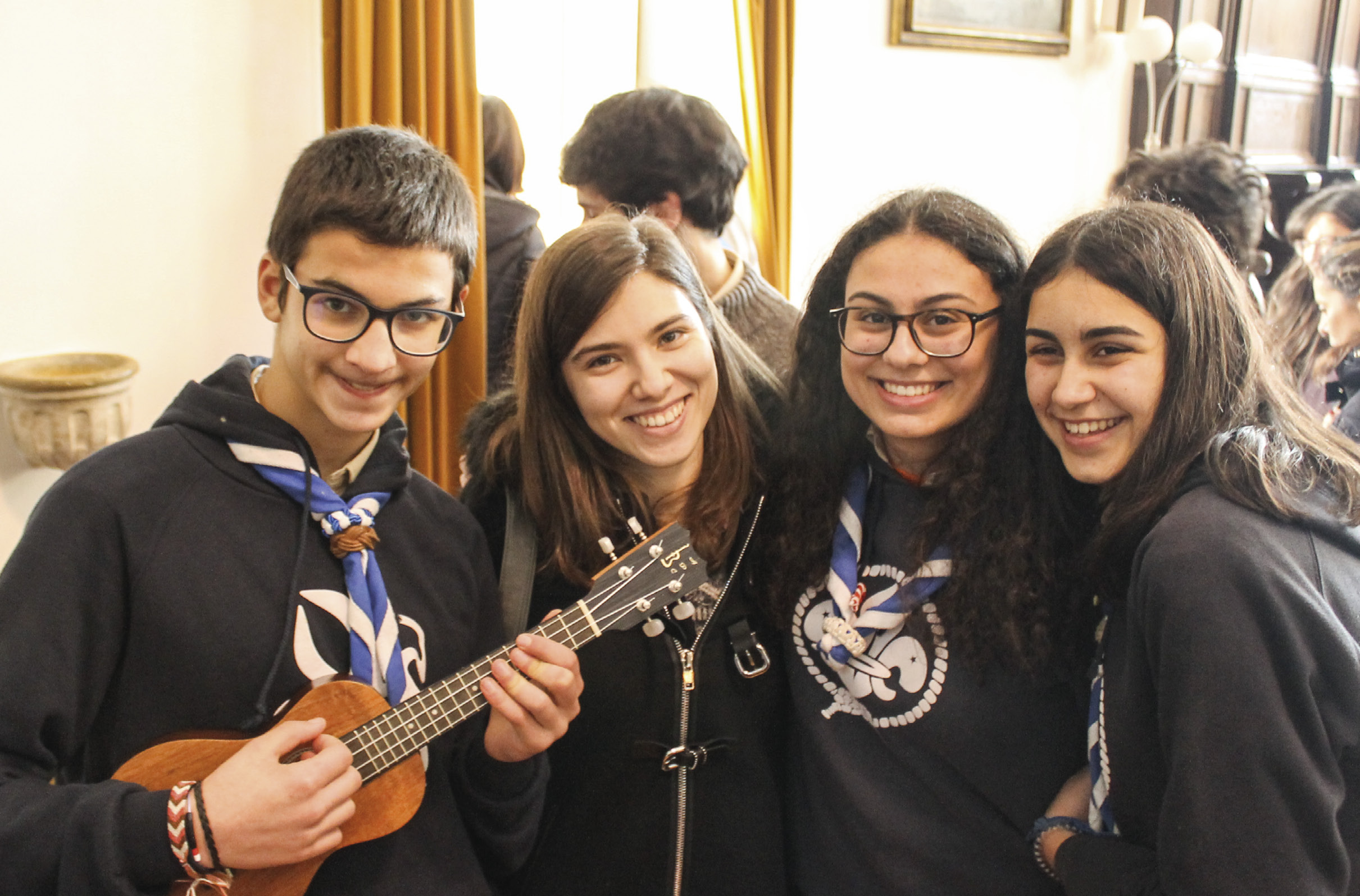Jovens escutas do Agrupamento 109, Santo António dos Olivais, Coimbra. Foto MSA.