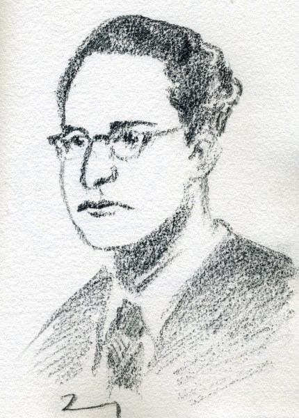 Jorge de Sena (Lisboa, 2/11/1919 – Santa Bárbara, Califórnia, 4/6/1978). Poeta, crítico, ensaísta, ficcionista, dramaturgo, tradutor e professor universitário. Exilado no Brasil, adquiriu a nacionalidade brasileira, em 1963. Retrato, por Victor Couto, Wikimedia Commons, 2009