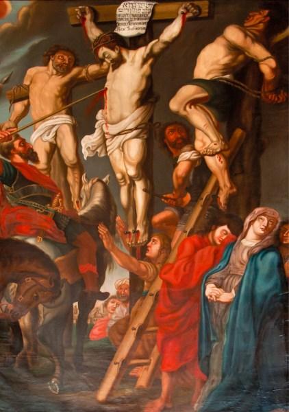 Cristo na cruz, Pehr Zettenberg, cópia de um quadro de Peter Paul Rubens, doado à Igreja de São Nicolau, Örebro, Suécia, em 1786 / Wikimedia Commons, 2011.