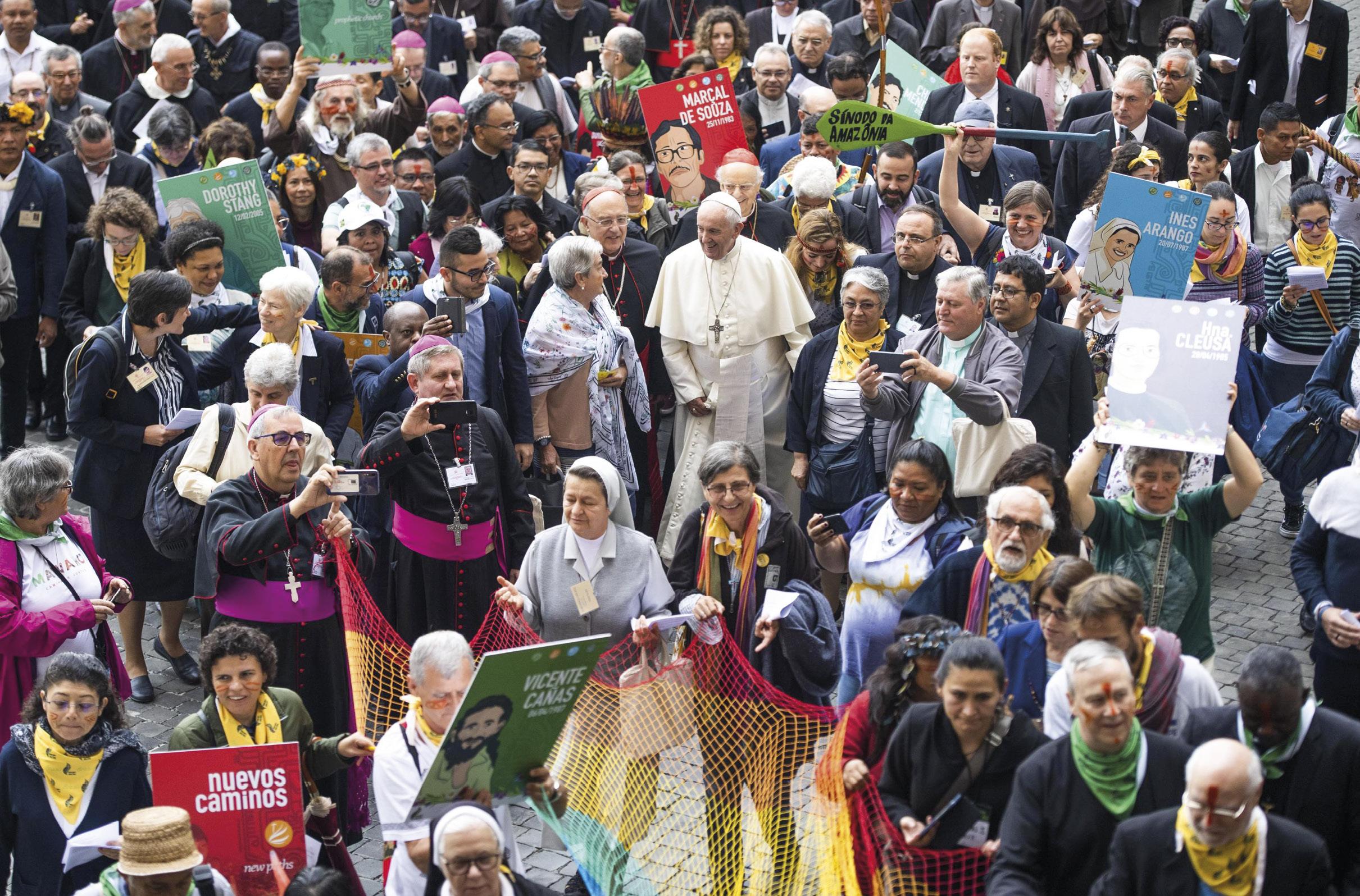 Sínodo da Amazónia, Vaticano, 7 de outubro de 2019. Foto EPA / Claudio Peri.