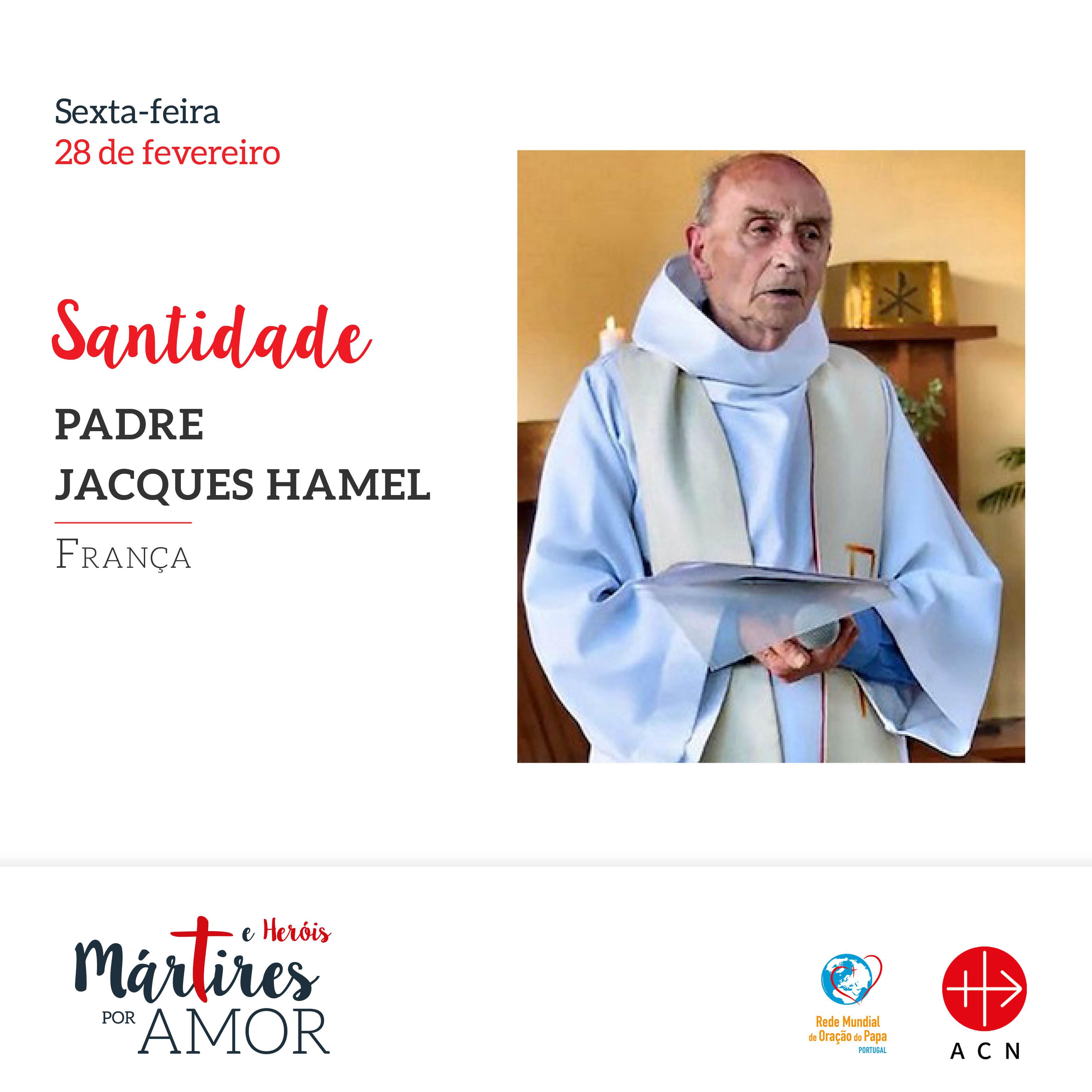 Santidade - França: Padre Jacques Hamel.