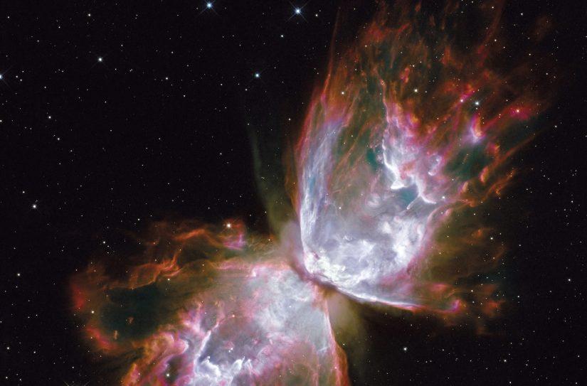 Foto da nebulosa NGC 6302, na Via Láctea, a cerca de 3800 anos luz da constelação Escorpião, tirada do telescópio espacial Hubble. Foto NASA, ESA, Hubble SM4 ERO Team.