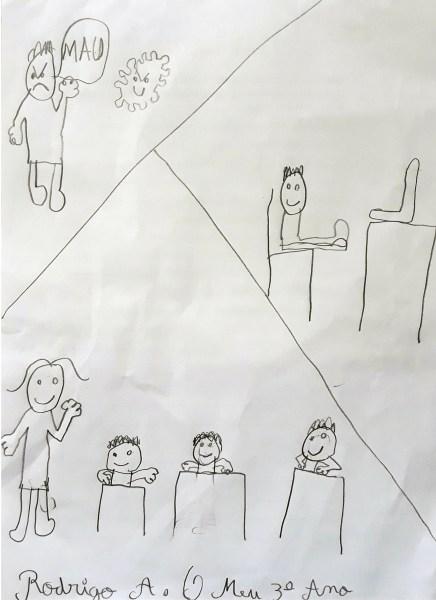 Desenho de Rodrigo A., 3º ano de escolaridade