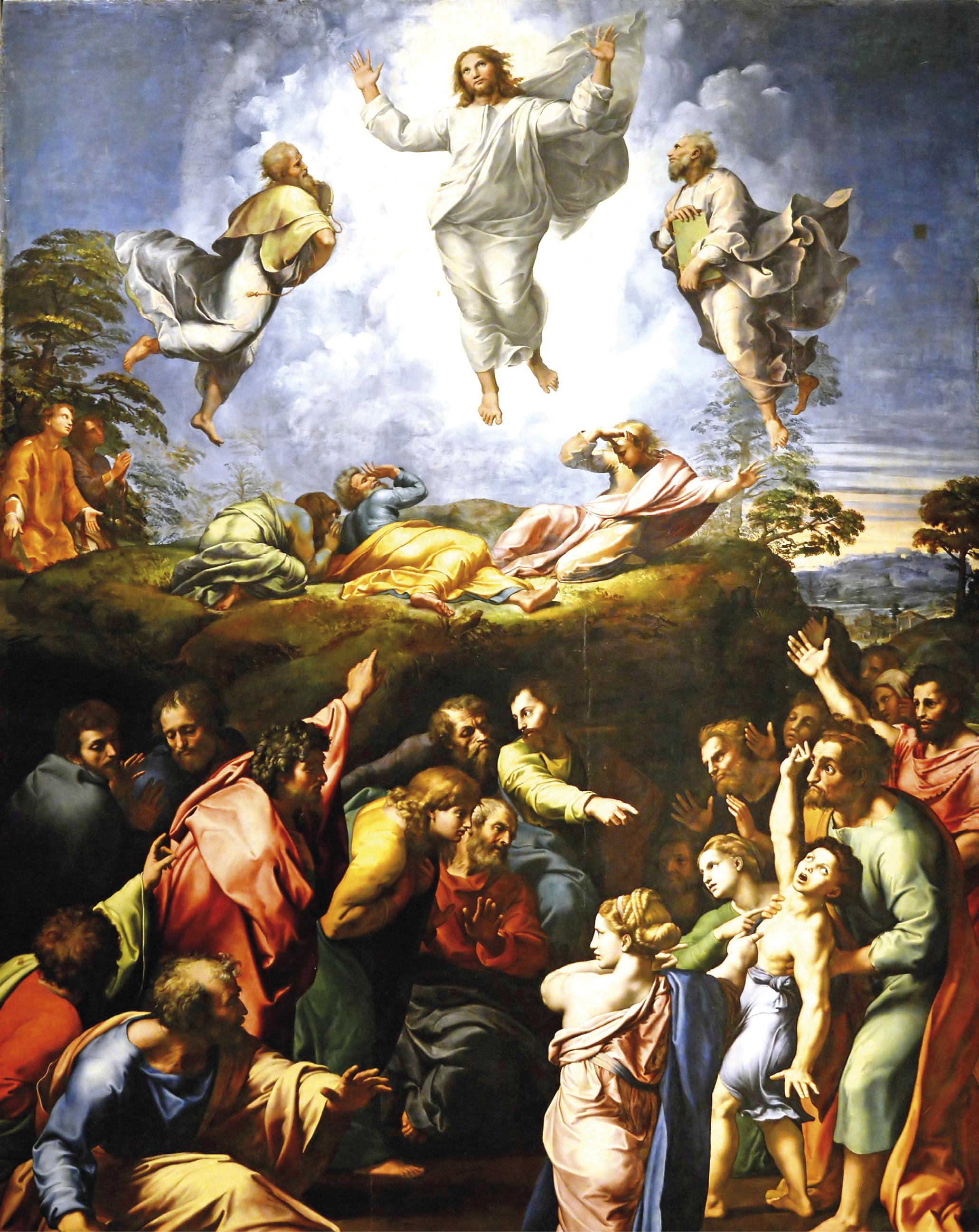 A transfiguração de Jesus. Pintura de Raphael (1443-1520), Pinacoteca dos Museus do Vaticano. Wikimedia Commons.