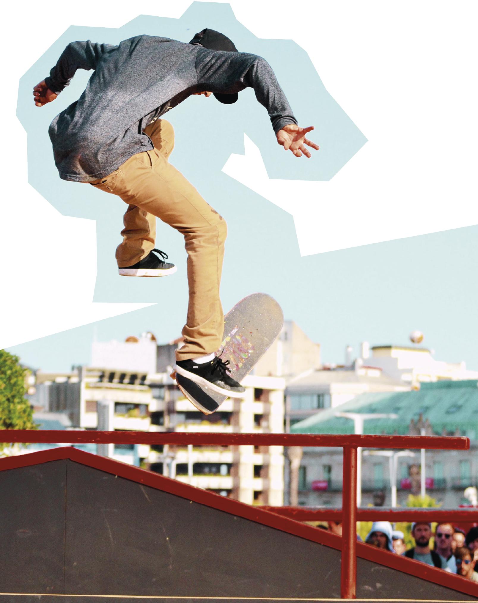 Foto: Jovem salta de skate, Jorge Gonzalez | Unsplash