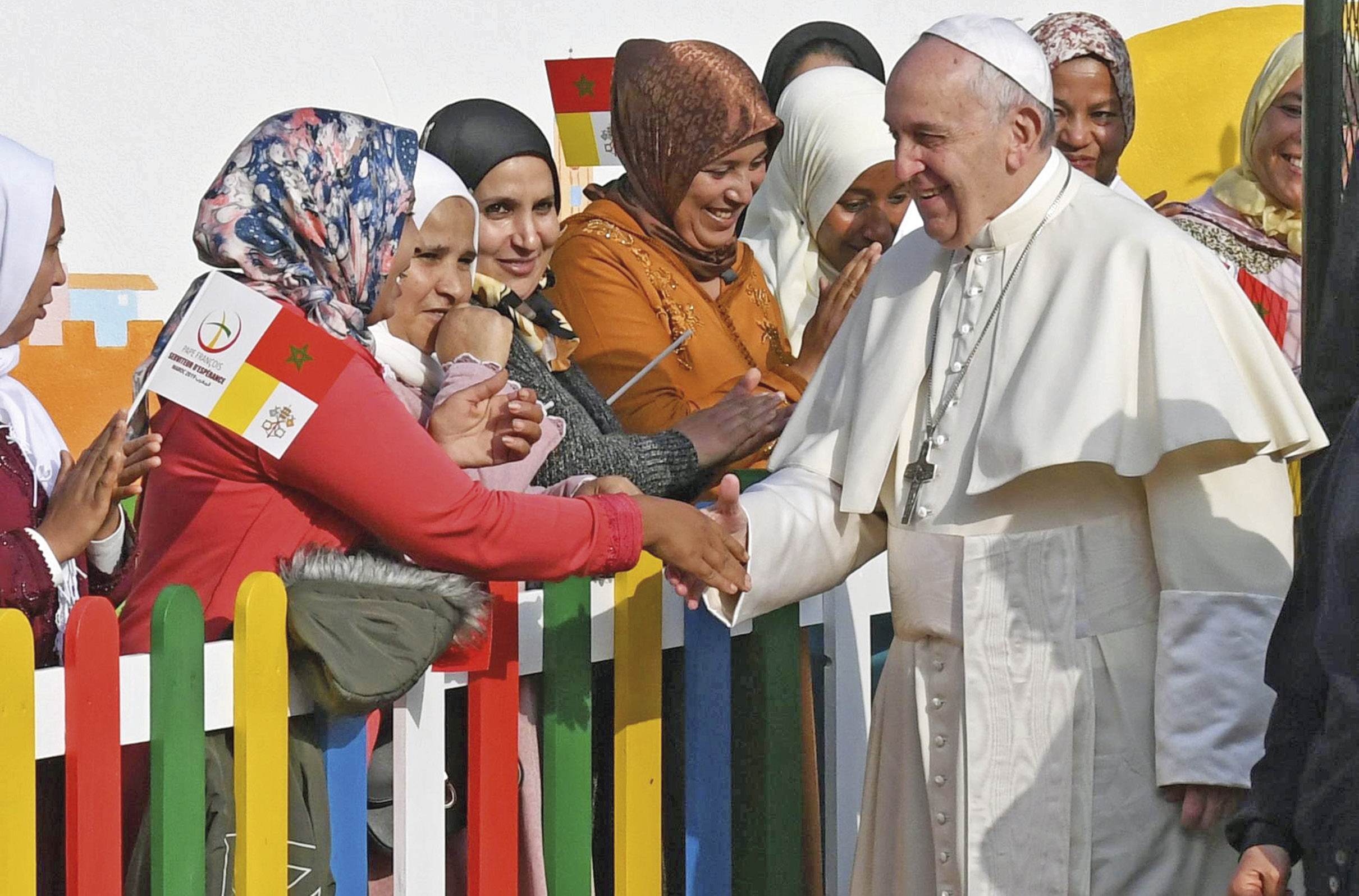 Papa Francisco na visita apostólica a Marrocos, 31 de março de 2019. Foto EPA/Ciro Fusco.