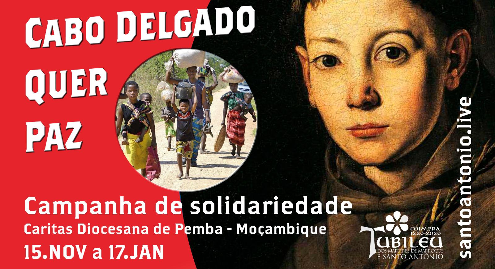 Campanha de solidariedade: Cabo Delgado Quer Paz Caritas Diocesana de Pemba, Moçambique.